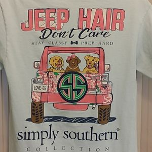 Simply Southern Jeep hair don't care tee